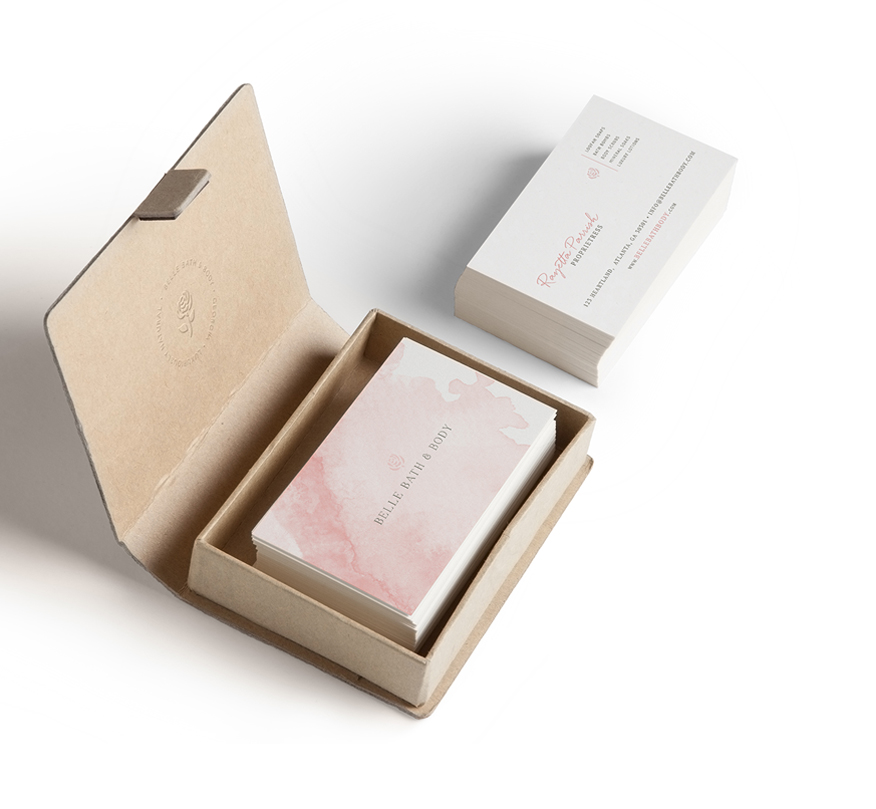 Portfolio | Belle Bath + Body Business Cards | thelanguidlion.com