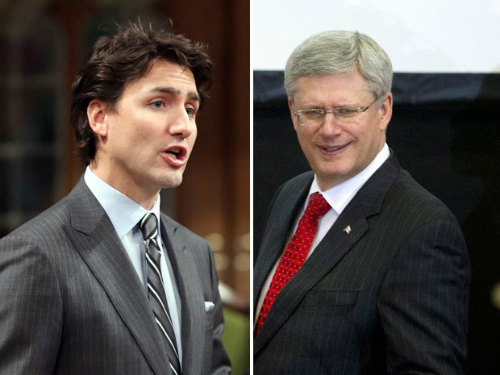 Harper-Trudeau-Scowl-Sized-Big