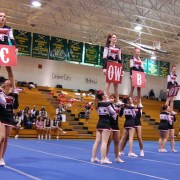 Cheerleaders Compete Against Perception
