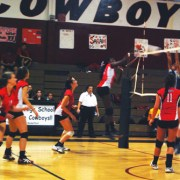 Varsity Girls Volleyball: Cowboys Struggle Against St. Thomas