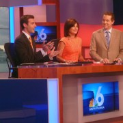 On The Set With The NBC 6 News Anchors