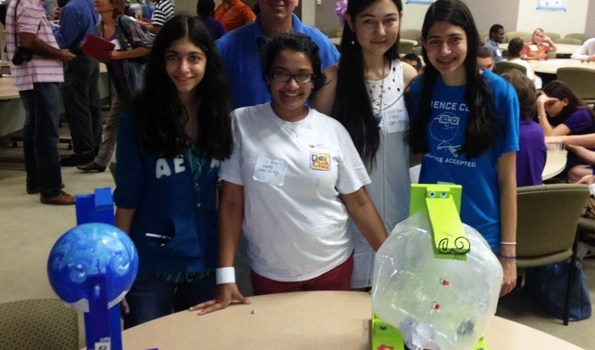 CCHS Science Club Competes In Water Tower Competition