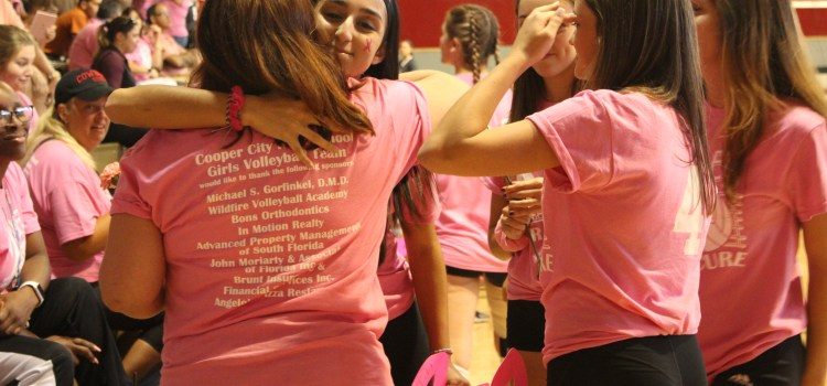 Varsity volleyball: Lady Cowboys dominate in Dig Pink game