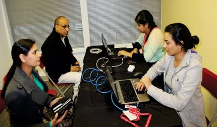 Campaign volunteers registering donors during blood drive days at Surrey clinic. Photo courtesy of Sukhdeep Singh.