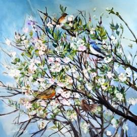 Spring Anew by Lori Goldberg - Painting by Lori Goldberg