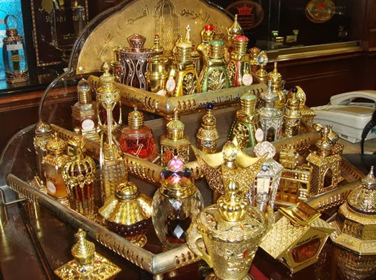 A collection of traditional Middle Eastern perfumes | Photo by Gina Zakaria, Flickr.