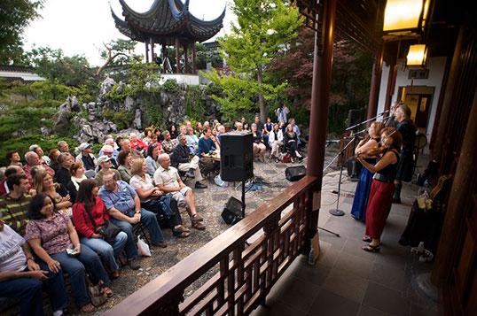 Concerts at Dr. Sun Yat-Sen Garden run Fridays in August | Photo courtesy of Vancouver Chinese Garden