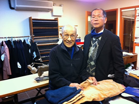 Bill Wong with his son Steven Wong at their Modernize Tailors shop. | Photo by Sonja Grgar