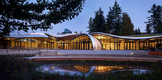 The Vancouver Botanical Garden's Visitor Centre features an orchid-inspired design and a green roof. | Photo courtesy of Jetson Green