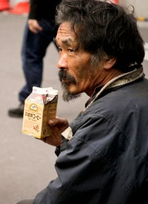 A homeless person in Japan | Photo by Peregrino Will Reign, Flickr.