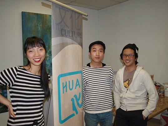 Photo by Simon Yee: Claudia Li, Bard Suen, and Kevin Huang (right)