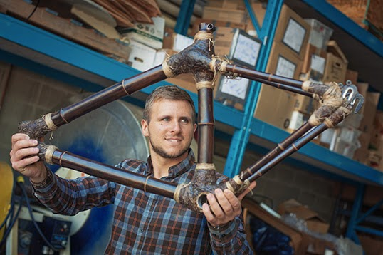 UBC's Felix Böck is developing building materials made of bamboo.| Photo by Martin Dee.