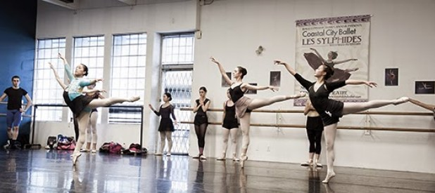 Coastal City Ballet dancers hard at work in their company class.| All photos by David Cooper.