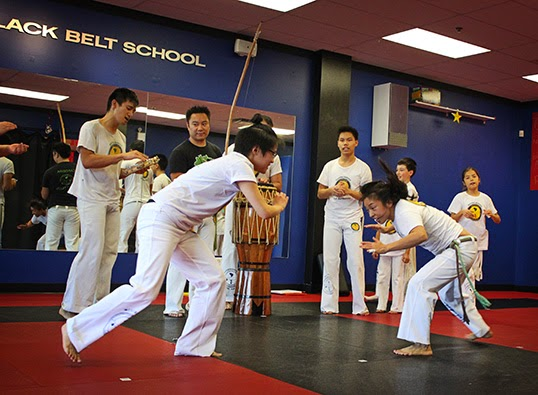 Students engaged in capoeira. | Photo by Krystal Campioni