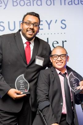 Rick Kumar (left) and Calvin Tiu, recipients of Surrey's Top 25 Under 25 Awards. | Photo courtesy of Calvin Tiu