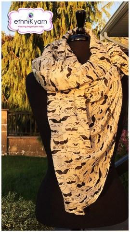 An ethniK yarn scarf. | Photo courtesy of Katsuri Guha