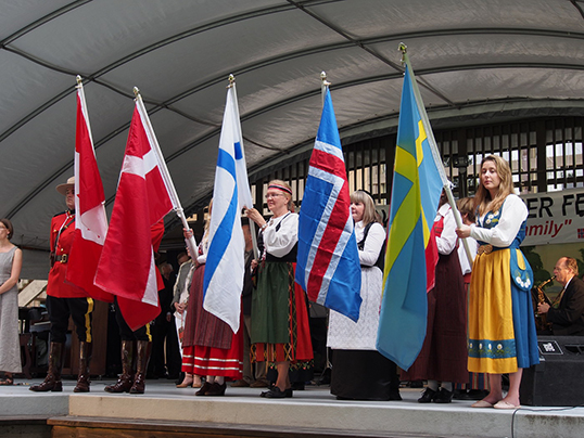Participants at the annual Midsummer Festival at the Scandinavian Community Centre in Burnaby | Photo courtesy of the Scandinavian Community Centre