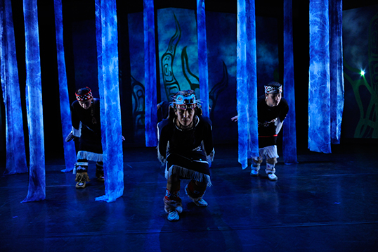 Flicker aims to change stereotypical ideas of First Nations art form.| Photo courtesy of Dancers of Damelahamid .