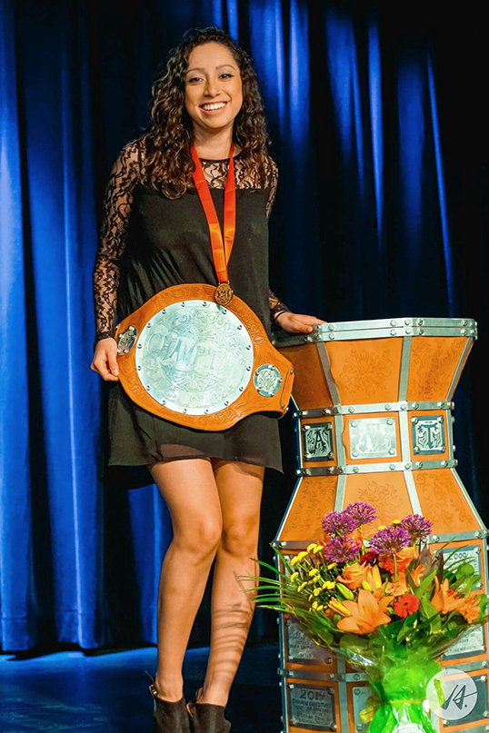 Tasha Receno is the Vancouver Poetry Slam Champion for the second year in a row | Photo courtesy of Tasha Receno