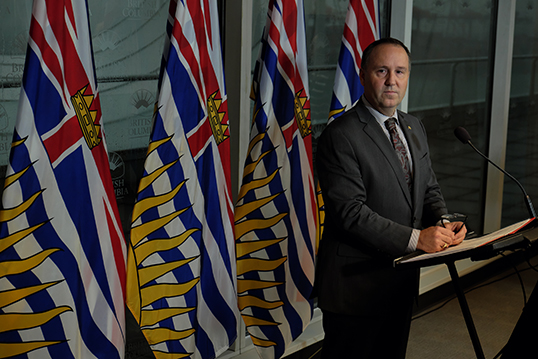 Education minister Mike Bernier fires the Vancouver School Board. | Photo corutesy of the Province of B.C