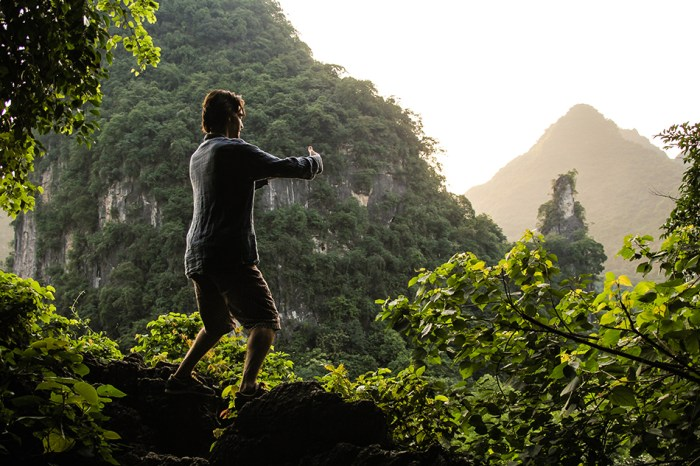 A man demonstrates qigong, a traditional Chinese medical practice | Photo by Maris M, Flickr