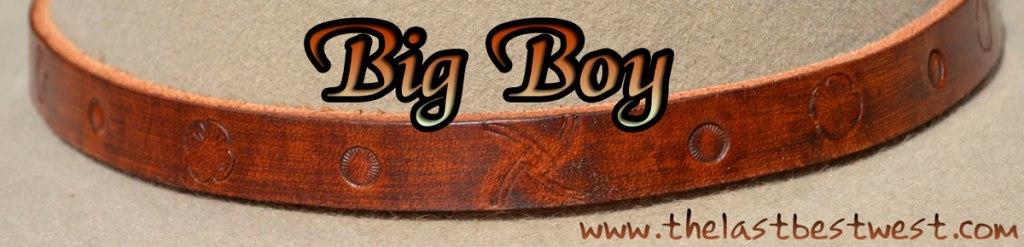Big Boy Leather Hat Band
