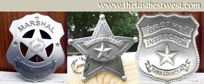 custom old west badges