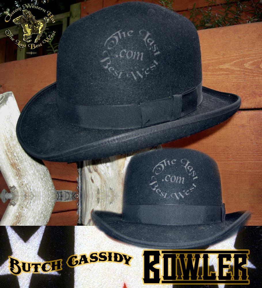 Butch Cassidy Handmade Bowler