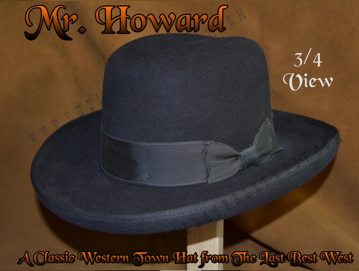 Mister Howard Homburg Dress Hat - The Last Best West 998dddcdb41