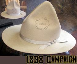 1898 Campaign Hat custom handmade beaver fur felt