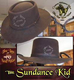 Sundance Kid Custom Handmade Hat