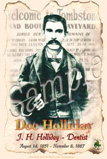 Old West Poster of Doc Holliday