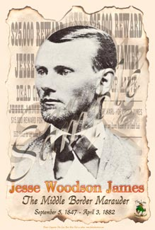 Old West Poster of Jesse James