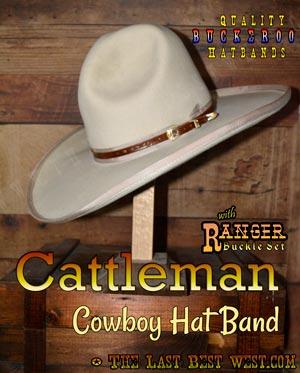 Cattleman Cowboy Hatband