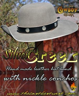 Silver Creek Cowboy Hatband