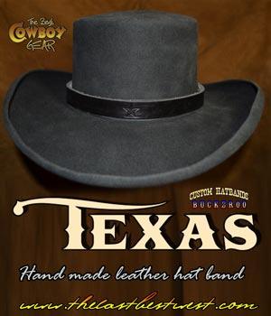 Texas Cowboy Hatband