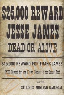 25000 For Jesse James Poster