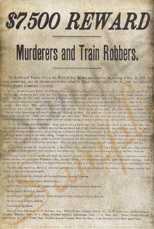 $7500 Reward for Murderers Poster