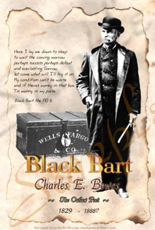 Black Bart Outlaw Poster