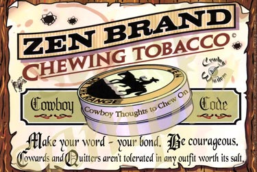 Cowboy Code Poster Courage