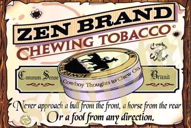 Cowboy Poster Bulls and Fools
