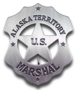 Alaska Territory U.S. Marshal Badge