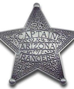 Captain Arizona Rangers Badge
