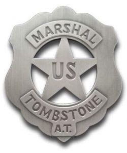 U.S. Marshal Tombstone Badge