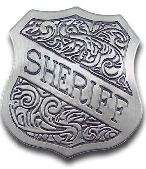 Sheriff Shield Badge