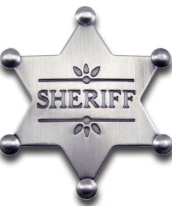 Sheriff Star Badge