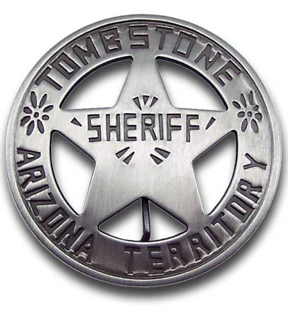 Sheriff Tombstone Badge