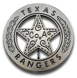 Texas Rangers Company A Badge