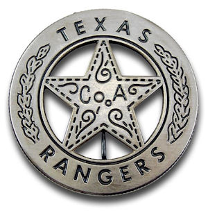 Texas Rangers Company A Badge