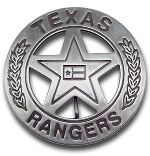 Texas Rangers Company B Badge